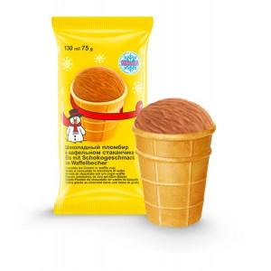 "Schokoladni Plombir v wafelnom stakane. Ice Cream ""Plombier"""