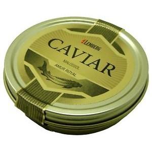 Zwarte kaviaar van steur Amur Royal
