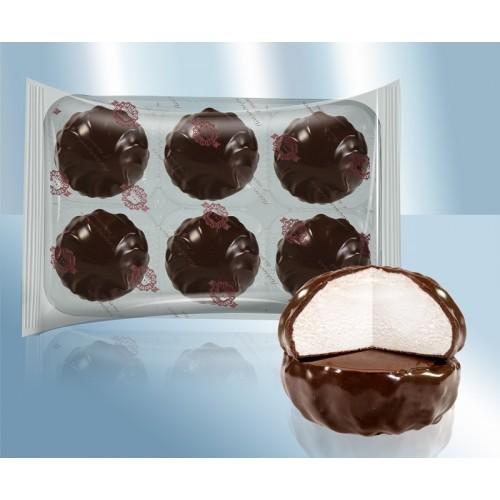 """Zefir """"Slivochnyy"""" in chocoladeglazuur."""