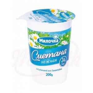 """Smetana """"Milochka"""" 24%. Cream fresh 24%"""