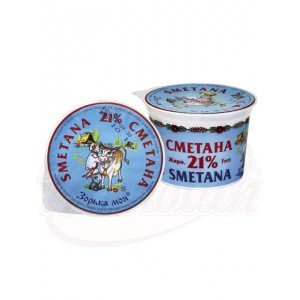 "Smetana ""Zorka Moja"" 21%. Cream fresh 21%"