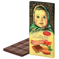 """Melkchocolade """"Alënka"""" met amandelen100g."""